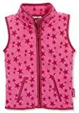 Playshoes Baby-Mädchen Weste Fleeceweste Allover Sterne, Oeko-Tex Standard 107, pink, 116