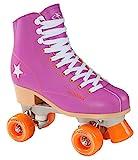 Hudora Disco Rollerskates Unisex Rollschuh, Lila/Orange, 35, 13171