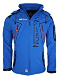 11A2 Geographical Norway Tambour Herren Softshell Jacke Outdoor Blau M