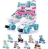 meteor Retro Rollschuhe: Disco Roller Skate wie in den 80er Jahren, Jugend Rollschuhe, Kinder Quad Skate, Farbvarianten - Bloom