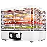 Aicook Dörrautomat mit Temperaturregler, Dörrgerät für Lebensmittel, Obst- Fleisch- Früchte-Trockner, Dehydrator, Temperaturwahl 35-70°C , BPA-frei, 5 Etagen Höheverstellbar