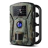 apeman Wildkamera Fotofalle 1080P Full HD 12MP Jagdkamera Weitwinkel Vision Infrarote 20m Nachtsicht Wasserdichte IP66 Überwachungskamera mit 2.4' LCD Display