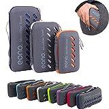Amazon Marke: Eono Essentials Mikrofaser Handtücher, klein, leicht und ultra saugfähig - das perfekte Sporthandtuch, Reisehandtuch, Microfaser-Badetuch, Strandhandtuch, Violett - S