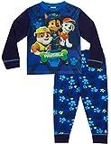 Schlafanzug für Jungen von 3bis 7Jahren, Motiv Paw Patrol, W17,blau Gr. 5-6 Jahre, blau