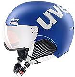 Uvex Unisex Erwachsene 500 Visor Skihelm, Cobalt-White Mat, 55-59 cm