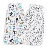 Lictin Schlafsack Baby Sommerschlafsack 0.5 Tog Babyschlafsack Einstellbar 70-90cm für Neugeborene 3-18 Monate
