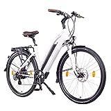 NCM Milano 48V, 26' / 28' Zoll Damen & Herren Urban E-Bike Elektrofahrrad Pedelec, 250W Das-Kit Heckmotor, 13Ah 624Wh Li-Ion Zellen Akku, mechanische Scheibenbremsen, 7 Gang Schaltung (28' Weiß)