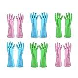 TopBine Gummihandschuhe,Haushalt Küche Reinigung Wasserdichte Handschuhe, gartenhandschuhe,Handschuhe reinigunghandschu (6L)