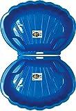 2-er Sandkasten Sandmuschel Muschel Wasser Planschbecken groß 108x79cm XL, 5 Farben! (Blau)