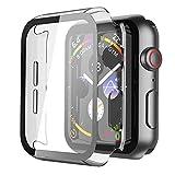 Misxi Transparent Hard Hülle Mit Glas Displayschutz Kompatibel mit Apple Watch Series 6 / SE/Serie 5 / Series 4 40mm, 2-Stück