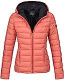 Marikoo Damen Jacke Steppjacke Übergangsjacke gesteppt B651 [B651-Luc-Coral-Gr.M]