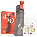 air up Starter-Set - 1 x Trinkflasche BPA-freies Tritan 650 ml 2 x Pods Geschmack Limette & Orange-Maracuja - Für Aromatisiertes Wasser 0 Zucker 0 Kalorien – Anthrazit