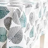 X-Labor Abwaschbar Tischdecke Eckig Wasserdicht Oxford Stoff Tischtuch Tischwäsche Pflegeleicht Garten Zimmer Tischdekoration Mint 140 * 180cm