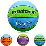 meteor Layup Kinder Jugend Basketball Größe #3 ideal auf die Kinderhände von 4-8 Jährigen abgestimmt idealer Basketball für Ausbildung weicher Basketball (Blau & Grün - Größe #3)