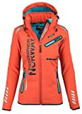 Geographical Norway Damen Softshell Funktions Outdoor Regen Jacke Sport [GeNo-24-Orange-Gr.M]