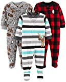 Simple Joys by Carter's Baby und Kleinkind Jungen 3er-Pack Fleece-Schlafanzug ,Arctic Animals/Stripe Mouse/Buffalo Check ,4T