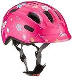 ABUS Smiley 2.0 Kinderhelm - Robuster Fahrradhelm für Mädchen und Jungs - Pink mit Schmetterlingsmuster, Größe S