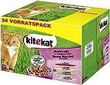 Kitekat Katzenfutter Nassfutter Markt Mix in Gelee, 48 Portionsbeutel (2 x 24 x 100g)