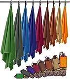 Fit-Flip Microfaser Handtuch – federleicht, Ultra saugstark und schnelltrocknend – (1x 140x70cm + 1x Tasche, Königsblau)