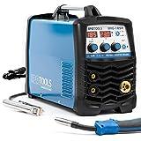 MIG-185R Inverter Schweißgerät MIG MAG - Schutzgas Schweissgerät mit 185 Ampere auch FLUX/Fülldraht und Elektroden geeignet mit/MMA E-Hand/Digitalanzeige/IGBT Technologie / 230V / Blau