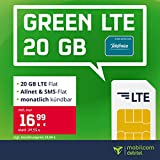 mobilcom-debitel Handyvertrag green LTE 20 GB - Internet Flat, Allnet Flat Telefonie & SMS in alle Deutschen Netze, EU-Roaming, monatlich kündbar