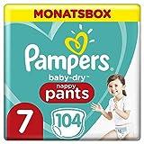 Pampers Baby-Dry Pants, Gr. 7, 17kg+, Monatsbox (1 x 104 Pants)