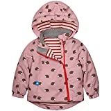Catawe Kinder Jacke Junge Mädchen Regenjacke Frühling Herbst Winter Windjacke Süßem Pattern Mantel für Körpergröße: Label 90/Age 2-3T, Rosa