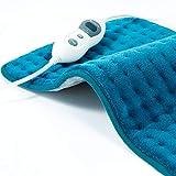 Hosome Heizkissen mit 2H Abschaltautomatik, 30x60cm 30s Schnellheizung Wärmekissen Elektrisch für Rücken Nacken Schulter Füße 6 Temperaturstufen