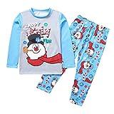 Balock Weihnachten Schlafanzug Familie Nachtwäsche Mutter Vater Kinder Mädchen Winter Pyjamas Outfit Santa Nachthemd Hose Schneemann Lang Sleepwear Anzug Festliche Homewear (Kinder, 8T)