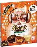 Reeses Adventskalender 2020 | Reese's Pieces peanut butter Erdnussbutter-Miniaturen, Advent aus weißer Schokolade, dunkler Schokolade und Milchschokolade, 248 g