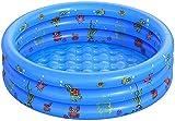 QASIMO Planschbecken, rund, für Kinder, aufblasbar, für Kinder, aus PVC für den Boden, Ozean-Thema, für den Garten, für Kinder, Erwachsene und Familien (100)