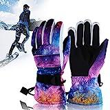 PINPOXE Skihandschuhe, Snowboard Handschuhe,Wasserdicht Winterhandschuhe, Touchscreen Sporthandschuhe, Herren und Damen Warm und Atmungsaktiv für Schnee Outdoor Motorradfahren Radfahren Wandern,M