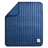 Elektrisch Heizkissen für Rücken Nacken Schulter Großes Wärmekissen (50 x 60cm) mit Abschaltautomatik und Temperatureinstellung in 6 Stufen Weiche Oberfläche und Waschmaschinenfestes Gewebe