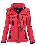 Geographical Norway Damen Softshell Funktions Outdoor Regen Jacke Sport [GeNo-20-Corail-Gr.L]