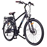 NCM Hamburg E-Bike City Rad, 250W, 36V 13Ah 468Wh Akku, 28 Zoll (28' Schwarz)