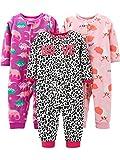 Simple Joys by Carter's 3-pack Loose Fit Flame Resistant Fleece Footless Pajamas Sleepers, Fox/Dino/Leopard Print, 24 Months