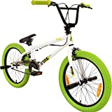 20' BMX deTOX Freestyle Kinder Neu Anfänger ab 130 cm, 7 J., Farbe:weiss/grün