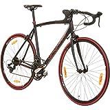 Galano 700C 28 Zoll Rennrad Vuelta Sti 4 Rahmengrößen 2 Farben, Rahmengrösse:56 cm, Farbe:schwarz/rot