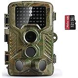 COOLIFE Wildkamera Fotofalle 21MP 1080P HD Jagdkamera Nachtsicht Bewegungsmelder IP67 Wasserdichter& Staubdicht 3-Zonen-Infrarotsensor 125 °Weitwinkel Nachtsichtkamera mit 32G Speicherkarte