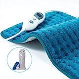Hosome Heizkissen mit 2H Abschaltautomatik, 30x60 cm 30s Schnellheizung Wärmekissen Elektrisch für Rücken Nacken Schulter Füße 6 Stufen Temperaturstufen
