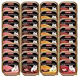 animonda Vom Feinsten Adult Katzenfutter, Nassfutter für ausgewachsene Katzen, leckere Fleischvielfalt, 32 x 100 g